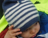 Childrens hat knitting PATTERN, Cute as a Button