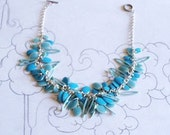 Blue Enamel Necklace