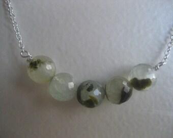 Sterling Silver Prehnite Necklace