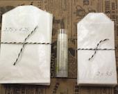 Set of 50 Mini FOOD SAFE Wax Paper Glassine Bags, treat bags - 2 3/4 x 4 1/4