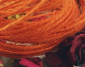 SALE - Soft & Natural bold Pumpkin Orange jute twine string - for crafting, gift wrapping, packaging - 20 Yards