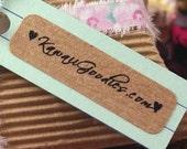 160 CUSTOM print 1/2 x 1 3/4 inch skinny Rectangle Brown Kraft Return Address LabelsStickers - for Labeling, Packaging, Crafting, Weddings