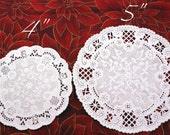 50 MEDIUM Fancy 5 inch round French Lace paper doilies for decorating, gift wrapping, food service, crafting, scrapbooking
