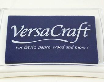 ULTRAMARINE Blue Ink Pad - Tsukineko VERSACRAFT ink - fabric, paper, wood, leather, unglazed ceramic, paper mache & shrink plastic