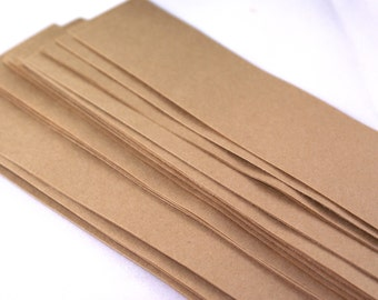 20 Kraft Brown Paper bands - 2 1/2 x 11 inch rustic paper ribbon Belly Bands - for invitations, soap packaging, gift wrapping