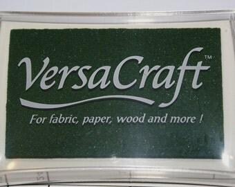 Pine Green Ink Pad - Tsukineko brand VERSACRAFT ink - fabric, paper, wood, leather, unglazed ceramic, paper mache & shrink plastic