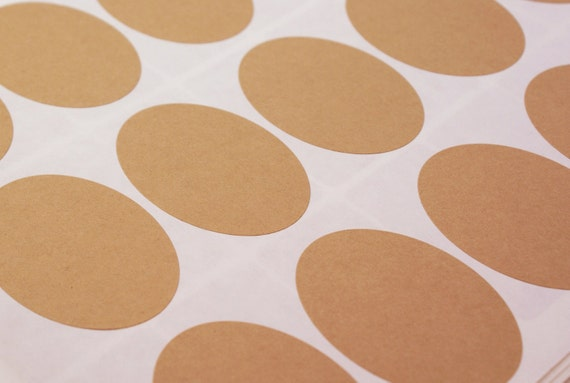 24 BLANK 4 x 2 1/2 inch Large Oval - Jumbo Sticker Labels Seals - 3 sheets - for Labeling, Printing, Packaging