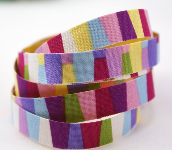 My Life is a Circus- Color Block Handmade PEEL & STICK Adhesive Fabric Deco Tape-for Scrapbooking, Gift Wrapping, Decorating