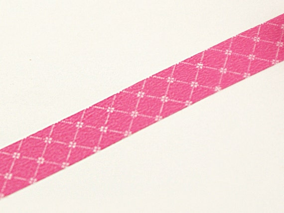 SALE - Country Quilted pattern on Dark Pink - Washi Masking Tape-16.5 YARDS