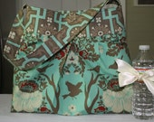 Kennedy Bag in Joel Dewberry Deer Valley Celadon Extra Large Slouchy Hobo Tote