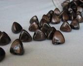 Chocolate Pyramid Bead (50pc)