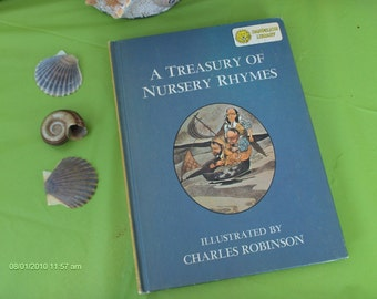 Dandelion Library 2 in 1 book - Tom Thumb and other Favorites 1967 and A Treasury of Nursery Rhymes 1967