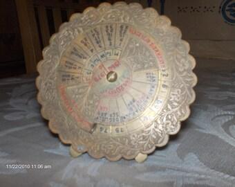 Treasury Item - 20 Year  Metal Calendar 1960 - 1979