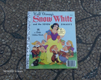 Snow White and the Seven Dwarfs - a Little Golden Book  - Commemorative Edition 1987 - Great Condition