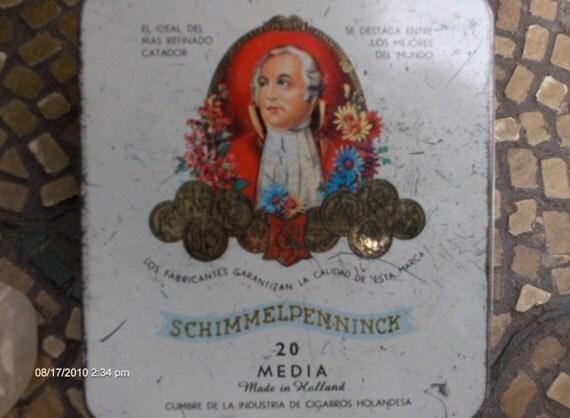 Vintage  Schimmelpenninck Cigar Hinged Tin  - Made in  Holland