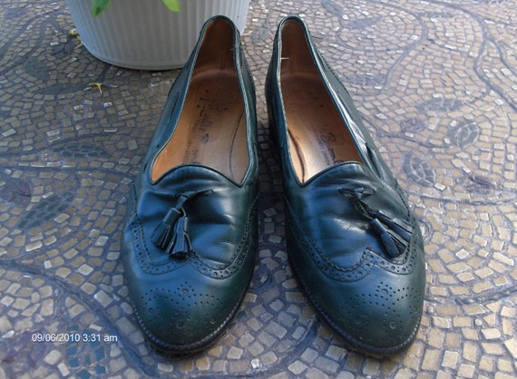 Vintage Russell and Bromley Men's Leather Shoes - Hunter Green Leather