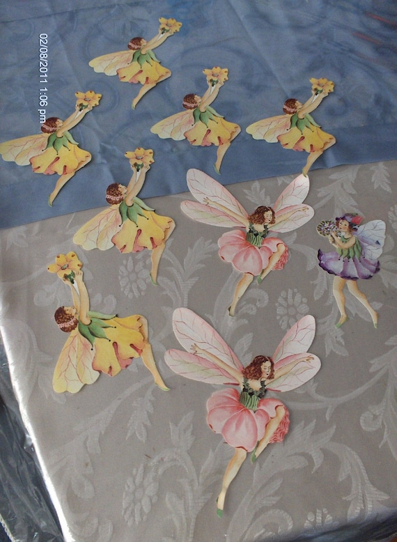 paper fairy cut outs lovely by daisvintagetreasures on etsy