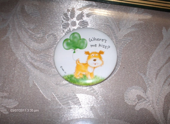 Hallmark St. Patrick's Day Button - Cute