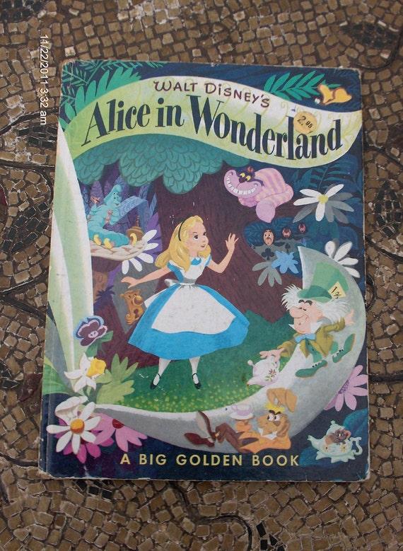 Walt Disney's Alice in Wonderland - A Big Golden Book 1980 - Sweet