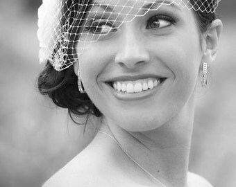 Bridal Bandeau Style Veil in your Color Preferences
