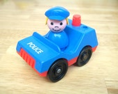 Vintage Fisher Price Police Car and Police Woman