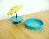 Vintage Fisher Price Patio Table and Pool