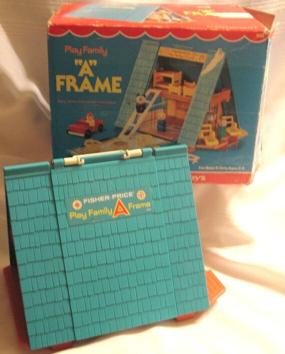 Vintage Fisher Price A Frame Complete with Box