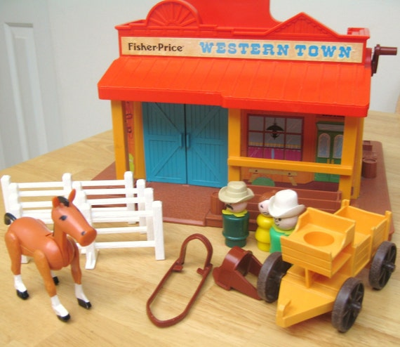 Vintage Fisher Price Western Town