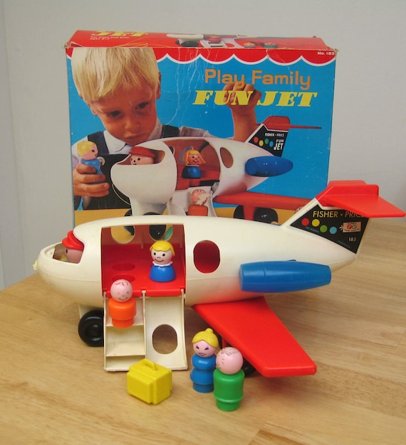 RESERVED Vintage Fisher Price Fun Jet with Box