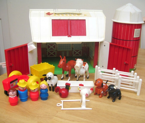 RESERVED Fisher Price: Vintage Farm Set