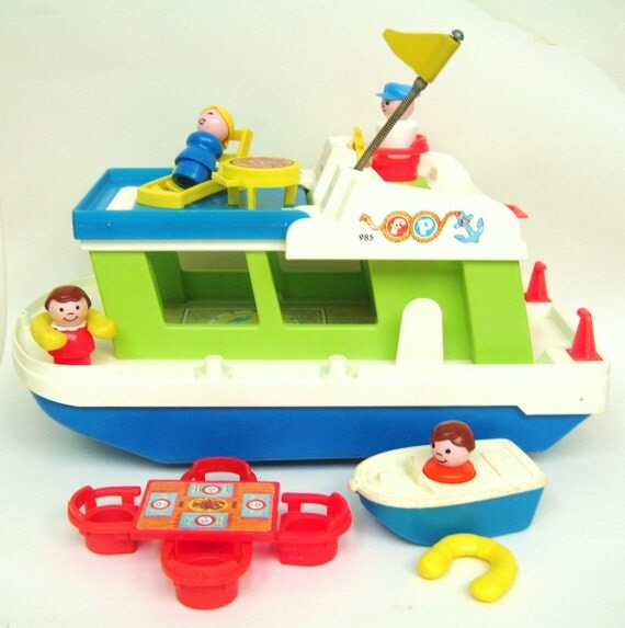 RESERVED Vintage Fisher Price Houseboat