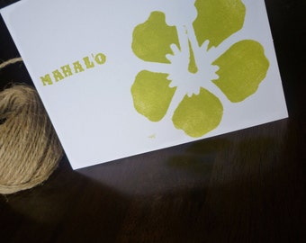 "Thank You ""Mahalo"" cards - Set of 6"