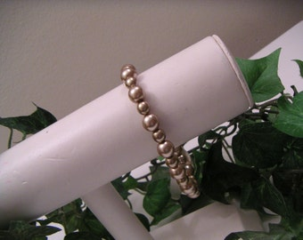 Latte Brown Pearl Bracelet