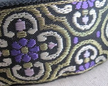 Caratacus CELTIC pattern woven jacquard ribbon in PURPLE, LAVENDER and Gold