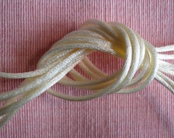 IVORY satin cord (rat tail cord)