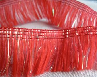 RED sparkle Fringe