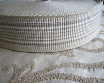 Tan and Taupe Striped Belting