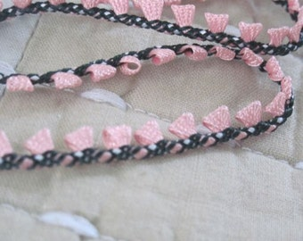 edging PINK and BLACK braid trim