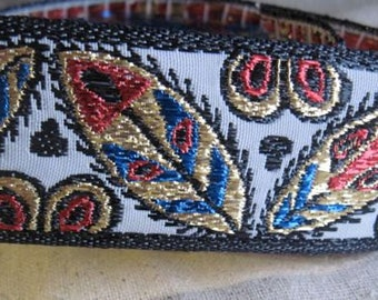Tribal Riot Sparkle Jacquard vintage Ribbon or Belting