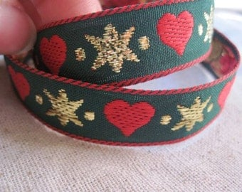 Heart and GOLD starburst ribbon