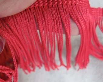 cherry RED chainette fringe