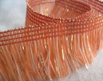 RUST-Orange sparkle soft fringe