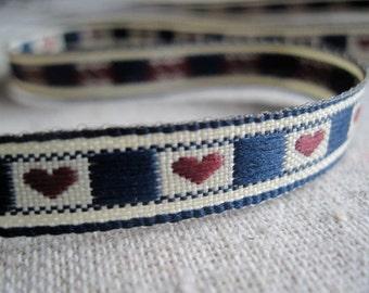 Country HEARTS jacquard Ribbon