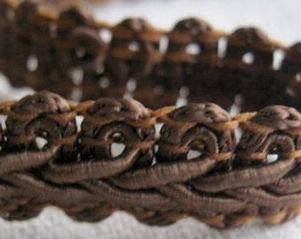 medium BROWN guimp scroll trim