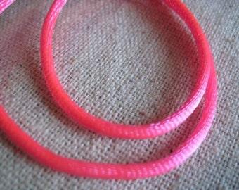 hot PINK satin cording