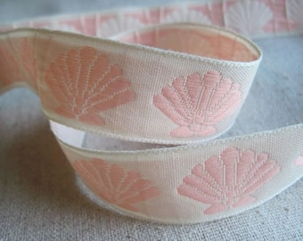 Sea Shell jacquard woven Ribbon
