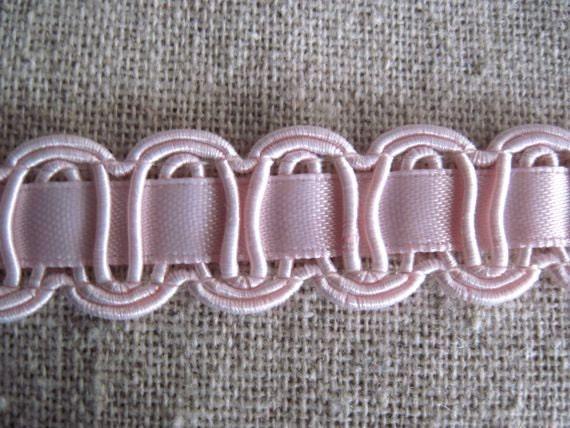 Light PINK Embellished Ribbon trim