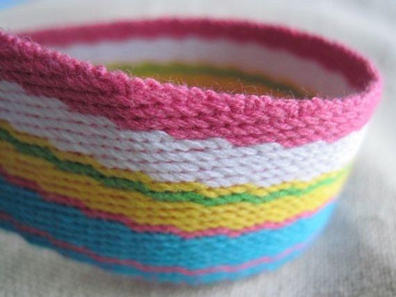 Striped cotton webbing