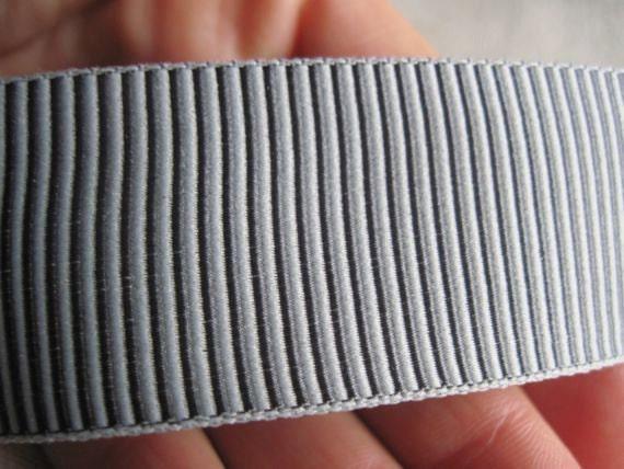 Striped slate GREY and light GRAY ribbon