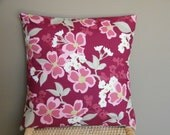 On Sale Only Until May 10th Two 16 x 16 Modern Meadow Dogwood Bloom Berry Throw Pillow Covers